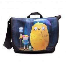 Adventure Time Finn and Jake Totoro Messenger Bag -  Multicolour (MB1MJWADV)