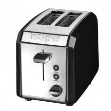 Waring 2-Slice Toaster Polished Stainless Steel Black (Model No. WT200BKU)