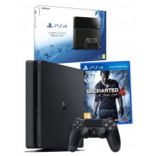 Sony PlayStation PS4 1TB Console with Uncharted 4 Game Bundle
