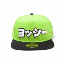 Super Mario Bros Japanese Yoshi Logo Snapback Baseball Cap Green/Black