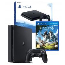 PS4 500GB Console Black + Horizon Zero Dawn Game PS4