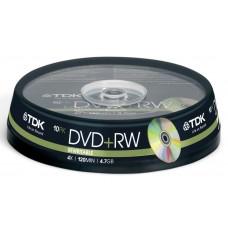 TDK T19524 4x DVD+RW - Rewritable Cakebox 10 Pack
