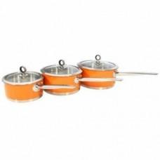 Morphy Richards 46397 Pan Set 3pcs 16/18/20cm Orange