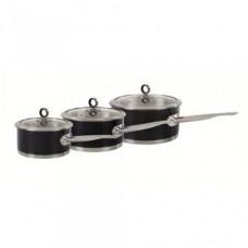 Morphy Richards 46390 Pan Set 3pcs 16/18/20cm Black