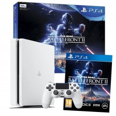 Sony PlayStation 4 PS4 500GB Console White with Star Wars Battlefront II Bundle