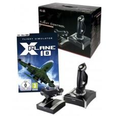 Games Power Flight Control Joystick Throttle + X-Plane 10 Global PC Game Bundle