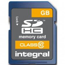 Integral Memory MicroSDHC Card 8 GB up to 80MB/s transfer speed (INSDH8G10)