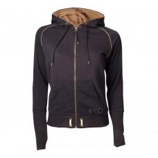 Assassins Creed Syndicate Female Bronze Brotherhood Crest Zipper Hoodie L Size