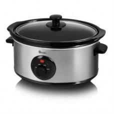 Swan Stainless Steel Slow Cooker 3.5L Capacity 2 Heat Settings - Silver SF17020N