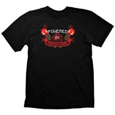 Minecraft Powered by Redstone Extra Large T-Shirt  Black (GE1144XL)
