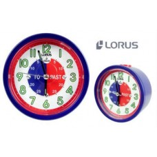 Lorus LHE034L Time Teacher Beep Alarm Clock with Snooze (Blue)