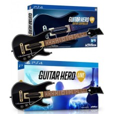 Guitar Hero Live Game + 2 Guitar Controllers Bundle GHL15 - PS4