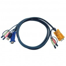 Aten KVM CABLE USB + AUDIO PC TO HD + AUDIO Switch 1.8m