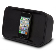 TDK Portable Stereo Speaker with FM Radio and Alarm Clock Apps for iPod/iPhone