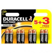 Duracell MN1500B53FREEPP Plus Power AA 5+3 Batteries