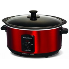 Morphy Richards 3.5Ltr Red Sear and Stew Cooker Red