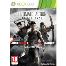 Ultimate Action Triple Pack Xbox 360 ( Includes Just Cause 2, Tomb Raider and Sleeping Dogs )