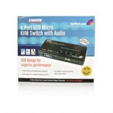 StarTech 2 Port USB KVM Switch w/ Audio and Cables