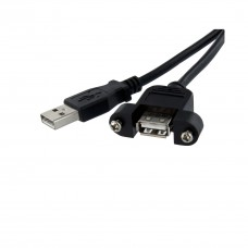 StarTech 1 ft Panel Mount USB Cable A to A - F/M
