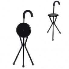 Age UK AU039A Folding Seat Walking Stick
