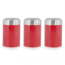Cook Incolour MCK12000 Set 3 Dome Canister Red