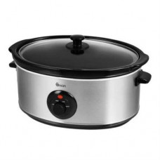 Swan Stainless Steel Slow Cooker 6.5L - Silver (Model No. SF17030N)