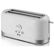 Swan 4 Slice LongSlot Toaster with Browning Control - White (Model No ST10090N)