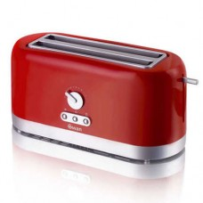 Swan 4 Slice LongSlot Toaster with Browning Control - Red (Model No ST10090REDN)