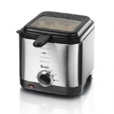 Swan Stainless Steel Fryer 1.5L Adjustable Thermostat - Silver (Model SD6060N)