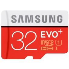 Samsung 32GB EVO Plus MicroSDHC UHS-I Grade 1 Class 10 Memory Card + SD Adapter