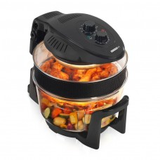 Black 12L Halogen Oven 1300W With Extender Ring  - Black (Model No. KM805)