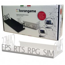 Borangame Deluxe Cases Holder for Games and DVDs - Metal Floating Shelf - White