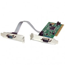 StarTech 2 Port PCI Low Profile RS232 Serial Adaptor Card with 16550 UART