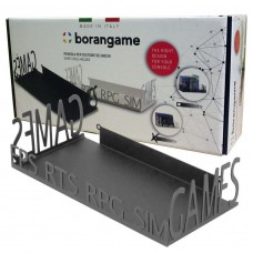Borangame Deluxe Cases Holder for Games and DVDs - Metal Floating Shelf - Black