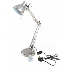 Lloytron L855BC Studio Poise Halogen Hobby/ Desk Lamp - Brushed Chrome