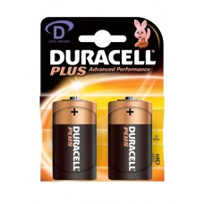 Duracell MN1300B2PLUS 2Pk 1.5V Batteries D Size