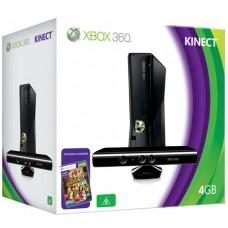 Xbox 360 4GB Console with Kinect Sensor Includes Kinect Adventures Matte Black F