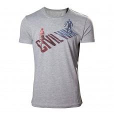 MARVEL COMICS Captain America: Civl War Stark vs. Cap T-Shirt XL - Grey