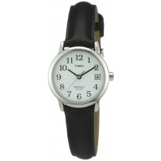 Timex Ladies Basic Big Date Easy Reader Watch with Black Leather Strap - T2H331
