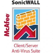 Sonicwall Server AV/Enforced Client AV and Anti-Spyware Mc-Afee (250 Users) 1yr
