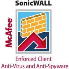 Sonicwall Server AV/Enforced Client AV and Anti-Spyware Mc-Afee (1000 Users) 2yr
