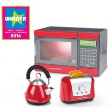 Casdon Morphy Richards Kitchen Set Microwave Kettle & Toaster Role Play Kids Toy