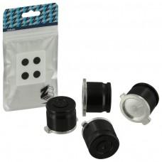 Zedlabz Aluminum Metal Action Bullet Button Set For PS4 Controllers - Jet Black