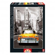 Educa Taxi No 1 New York Jigsaw 1000 pieces - Coloured Black and White (14468)