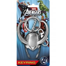 Marvel Loki Helmet Pewter Key Ring