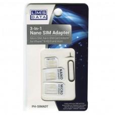 Dynamode LMS DATA 3-in-1 Nano SIM Card Adaptor Kit (PH-SIMADT)