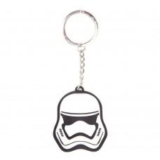 Star Wars The Force Awakens 3D Stormtrooper Mask Rubber Keychain - White/Black