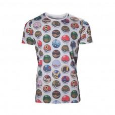 Pokemon All-over Poke Ball Print T-Shirt XL Size - Grey (TS500354POK-XL)