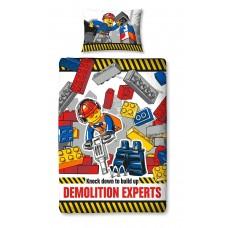 Lego City Demolition Panel Print Single Duvet Set - Multi-Colour
