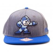Capcom Mega Man Unisex Mega Buster and Logo Snapback Baseball Cap One Size - Blue